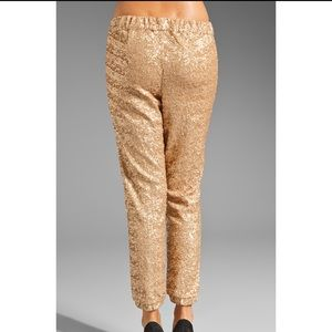 Free People Pants & Jumpsuits - Free People Sequin Party Jogger Champagne Gold ✨